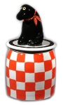 "Checkerboard Lab Jar • 14"" x 7"" • $150"