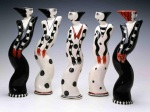 Black and White Dancer Candleholders • $80 each