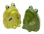 "Frog Salt and Pepper Shakers • 3"" x 4"" • $58"