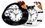 "Hen Clocks • 11"" x 9"" • $62"