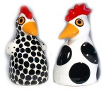 "Hen Salt & Pepper Shakers • 3"" x 4"" • $58"