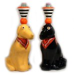 Lab Candleholders • $130 per pair