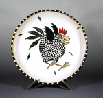"Screaming Hen Platter • 13"" • $134"