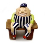 "NY Yankee Humpty Dumpty Bank • 12"" x 8"" • $198 • Any team you want. Football Humpties available as well."