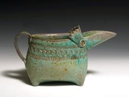 bird pitcher blue