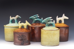 mixed animal jars