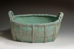 basket turquoise